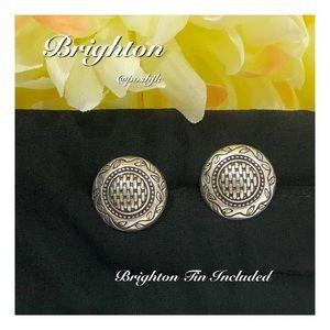 Brighton Earrings Silver Vintage Post